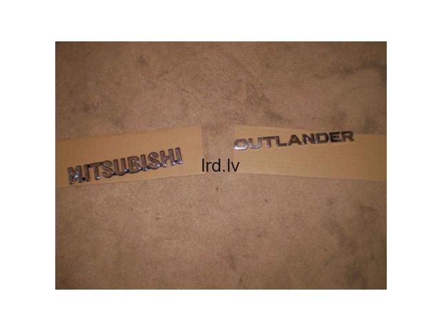Mitsubishi Outlander zīmes uzraksti