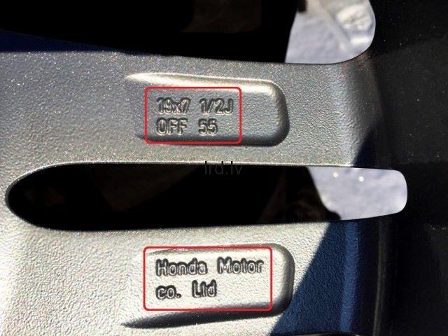 HONDA r19 (5x114.3) 7.5J  ET 55  Dia: 64.1 mm                              400.0 Euro €